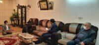 دیدار استاندار اردبیل از خانواده شهید عبدالعظیمی شام اسبی