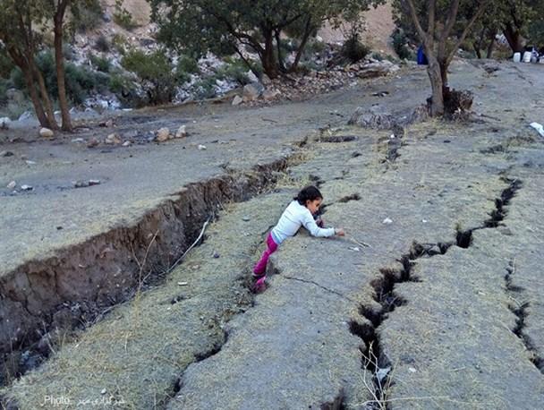 تصاویر/فرونشست زمین در کوهدشت